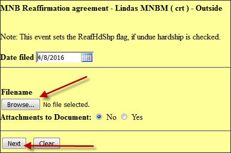 Reaffirmation Agreement District Of Minnesota United States